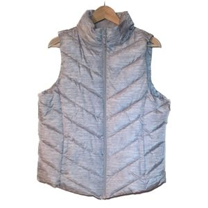 NWT Grey Puffer Zip Up Vest